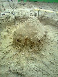 домик из песка