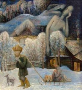 """Картина Егора Титова """"Мужик и душа"""" к стихам о любви """"Мужик и душа"""""""