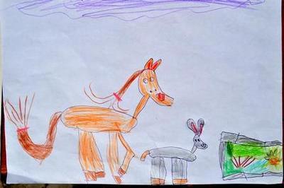 """Сказка про пони и ослика """"Здравствуйте!"""". Детский рисунок"""