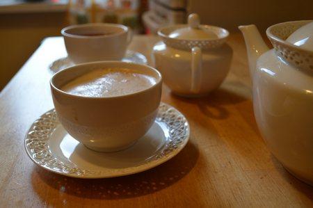 """Чашки с кофе сервиз Стихи про будни """"Обычный день"""""""