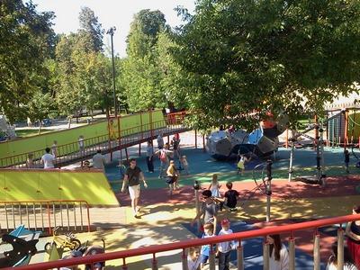 Где погулять с ребёнком в Москве. Парк Баумана или Сад культуры и отдыха имени Баумана. Кольцо