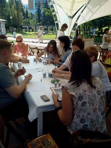 Где погулять с ребёнком в Москве. Парк Баумана или Сад культуры и отдыха имени Баумана. Мастер-класс для взрослых