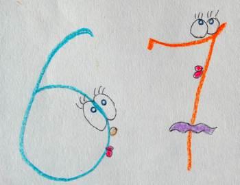 Запоминание цифр . Как писать цифры правильно или как запомнить цифры с ребёнком. Шестёрка и семёрка