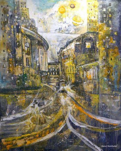 «Волшебный трамвай». Стихи про трамвай к одноименной картине художницы Дарьи Воробьёвой