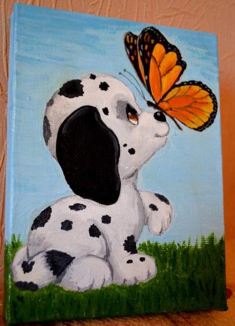 Картины в детскую комнату. Интересные идеи для детской. Картина на подрамнике – милое украшение детской комнаты. Далматинец