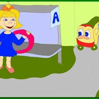 """Современная детская сказка """"Аришка и автобус"""""""