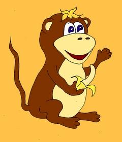 Карточки для изучения английского языка. Ещё один интересный урок английского языка. Учим английский весело. Page 7 monkey