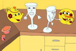 Стихи про посуду для детей и их родителей «Наверно, не стоит бояться разбиться»