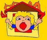 Пожар детская картинка