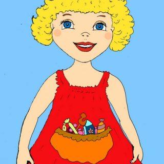 Короткие стишки для самых маленьких с картинками - Стихи про сарафан и сладкие конфетки