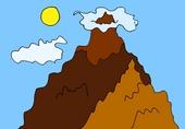 Гора детская картинка
