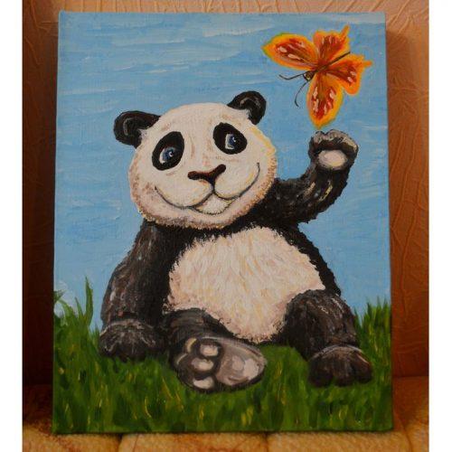 Картина Панда. Картина художника для детской