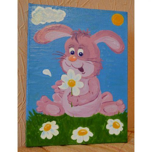 Купить картины для детской. Картина Зайка