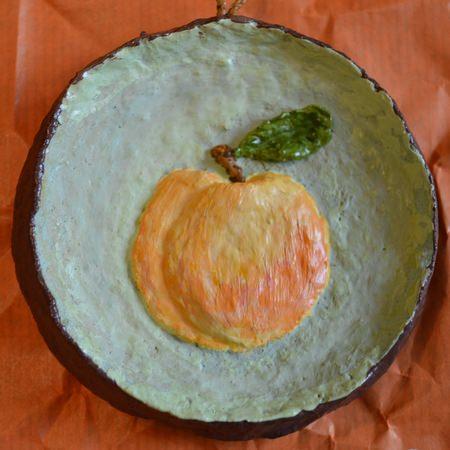 Серия Объёмные Фрукты. Мини-панно «Персик». Кухонный декор
