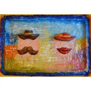 Самые необычные вещи. Абстрактные картины со шляпами серии «Двое»