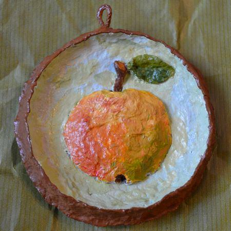 Мини картина для столовой – панно «Яблоко»
