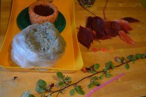 Что понадобится для розочки из листьев в горшочке