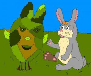Заяц картинка - иллюстрация к коротки стихам про зайца
