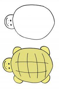 игра дорисуй картинку - черепашка