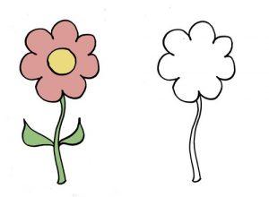 дорисуй для детей цветок