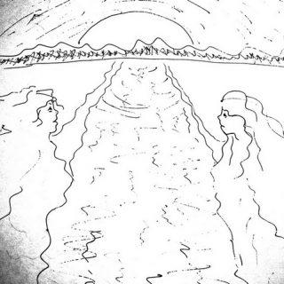 рисунок ручкой иллюстрация к стихам