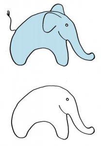 дорисовать картинку для детей 3 4 5 лет слон