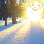 солнечный свет рисунок и снег