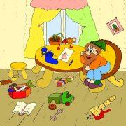 Картинка с гномом - иллюстрация к стихам про потом