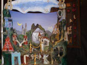 Экспонаты музея Зал Волшебный Букварь художник Николай Чигарёв