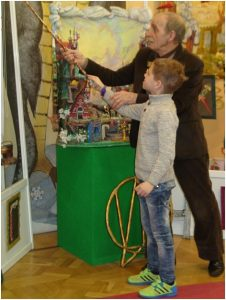В музее Зал Волшебный Букварь Ищут буквы