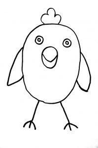 Как просто нарисовать цыплёнка