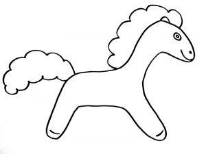 как просто нарисовать лошадку