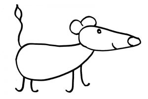 Как нарисовать мышку просто