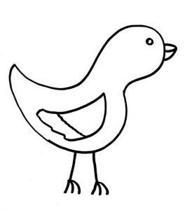 как нарисовать птичку просто