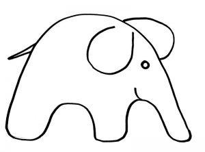 как нарисовать слона просто