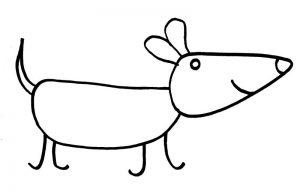 Как нарисовать собачку просто