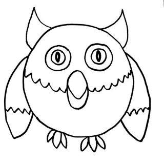 Как просто нарисовать сову