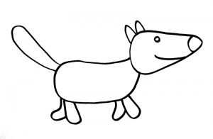 Как нарисовать волка просто
