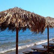 """пляжные зонтики - иллюстрация к стихам """"Продавец тени"""""""