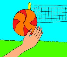 Рука бьёт по мячу
