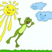 Иллюстрация автора к стихам про цвета радуги