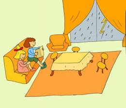living room учим легко английские слова
