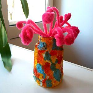 ваза своими руками покрашеная гуашью