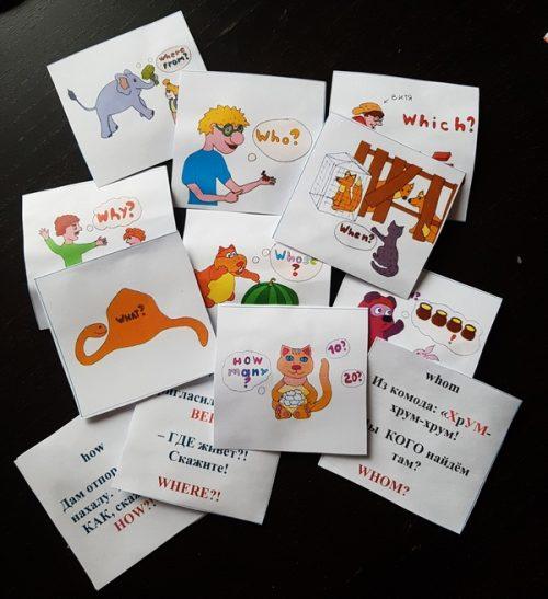 Карточки вопросительных английских слов для распечатывания