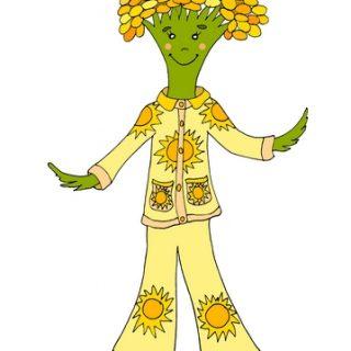 Пижма в пижаме авторская иллюстрация к стихам