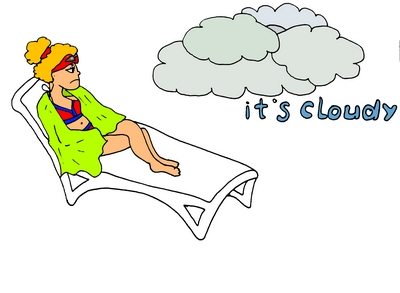 it's cloudy облачно ассоциативно запоминаем