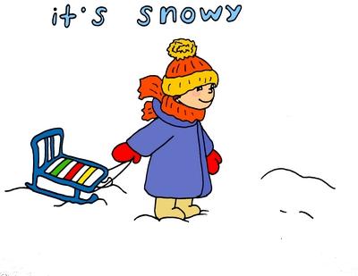 it's snowy снежно английский детям