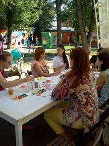 Где погулять с ребёнком в Москве. Парк Баумана или Сад культуры и отдыха имени Баумана. Рисование