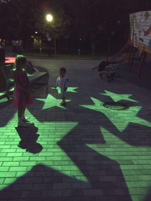 Где погулять с ребёнком в Москве. Парк Баумана или Сад культуры и отдыха имени Баумана. Звёзды на асфальте