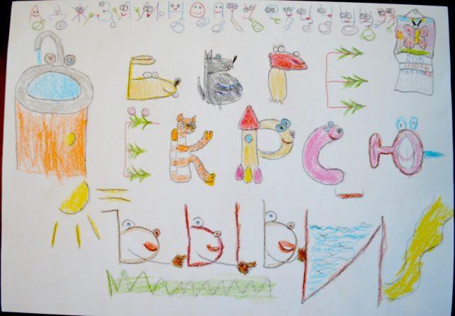 Запоминаем правильное написание букв русского алфавита. Как быть, если ребёнок пишет зеркально некоторые буквы? Картинка
